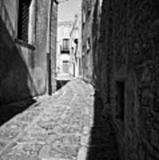 A Street In Sicily Art Print