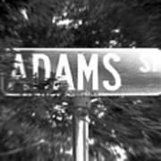 Ad - A Street Sign Named Adams Art Print
