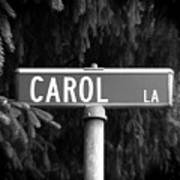 Ca - A Street Sign Named Carol Art Print