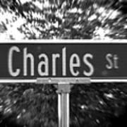 Ch - A Street Sign Named Charles Art Print