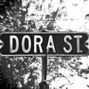 Do - A Street Sign Named Dora Art Print