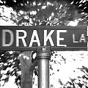Dr - A Street Sign Named Drake Art Print