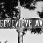 Ge - A Street Sign Named Genevieve Art Print