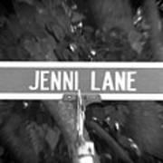 Je - A Street Sign Named Jenni Art Print