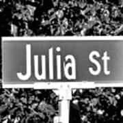 Ju - A Street Sign Named Julia Art Print