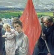 A Strike At Saint Ouen Art Print