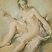 A Study Of Venus Art Print by Francois Boucher