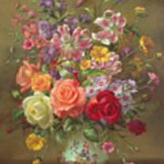 A Summer Floral Arrangement Art Print