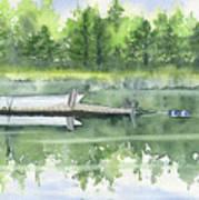 A Summer Pond Art Print