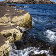 A Summer's Day At Nubble Light, York, Maine  -67969 Art Print