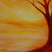 ...a Sun Sets Art Print