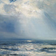 A Sunbeam Over The Sea Art Print