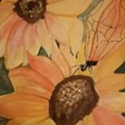 A Sunflower Surprise Art Print