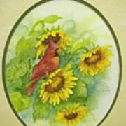 A Sunny Garden Spot Art Print
