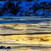 A Sunset In A River Of Ice Art Print