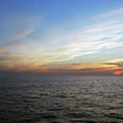 A Sunset On The Last Day At Sea Art Print