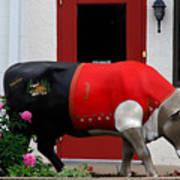 A Swiss Cow In New Glarus Wi Art Print
