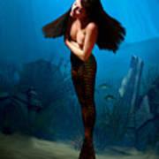 A Temple Mermaid Art Print