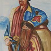 A Texas Horseman Art Print