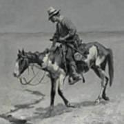 A Texas Pony Art Print
