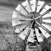 A Texas Windmill Art Print