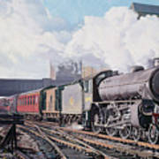A 'thompson' B1 Class Moving Empty Stock On A Cold February Morning Art Print by David Nolan