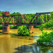 A Time Gone By Railroad Bridge Lumber City Georgia Art Print