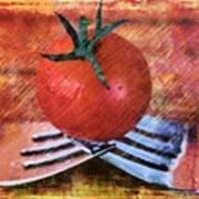 A Tomato Sketch Art Print