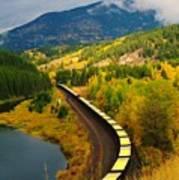 A Train Of Golden Grain  Art Print