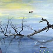 A Tranquil Lake Art Print