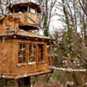 A Treehouse For All Seasons Art Print