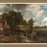 A Tribute To John Constable Catus 1 No. 1 -the Hay Wain L B With Alt. Decorative Ornate Frame. Art Print