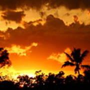A Tropical Sunset Art Print