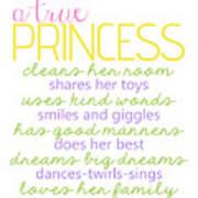 A True Princess Does Her Best Art Print