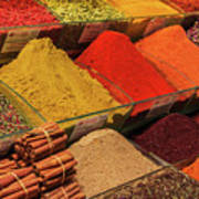 A Typical Set Of Shops In Istanbul Spice Market Art Print