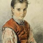 A Ukrainian Peasant Girl Art Print