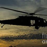 A U.s. Army Uh-60 Black Hawk Leaves Art Print