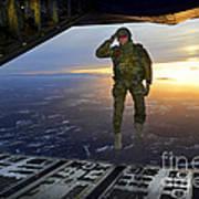 A U.s. Soldier Salutes His Fellow Art Print