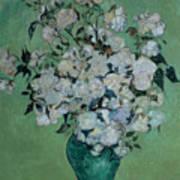 A Vase Of Roses Art Print by Vincent van Gogh