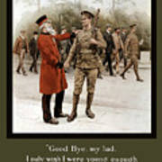 A Veteran's Farewell - Ww1 Art Print