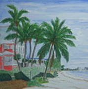 A View Down Ft. Myers Beach Art Print