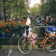A View Down The Keizersgracht Canal Art Print