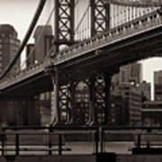 A View From The Bridge - Manhattan Bridge New York Art Print