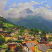 A View Of Engelberg Switzerland Art Print