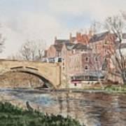 A View Of Framwelgate Bridge Art Print