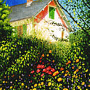 A View Of Monets House In Giverny France Art Print