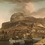 A View Of The Rock Of Gibraltar From The Spanish Lines 1782 Art Print