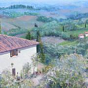 A Villa In Tuscany Art Print