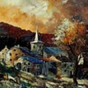 A Village In Autumn Art Print