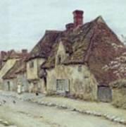 A Village Street Kent Print by Helen Allingham